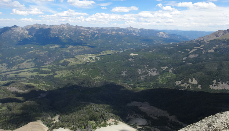 The Jack Creek Preserve and Moonlight Territory As Seen From Summit Of Fan Mountain